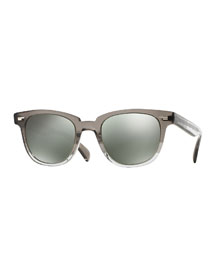 Masek 51 Mirrored Acetate Sunglasses, Gray Fade