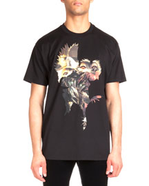 Columbian-Fit Animal Graphic Tee, Black