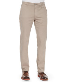 Lux Slim-Fit Chino Pants, Khaki