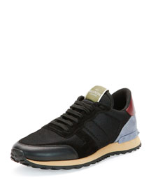 Rockrunner Mesh/Leather Sneaker, Black