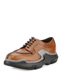Runway Lace-Up Trainer Shoe, Beige