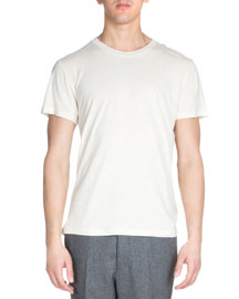 Short-Sleeve Crewneck Tee, Gray