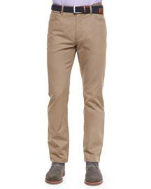 Five-Pocket Twill Pants, Dark Gray
