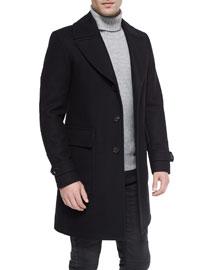 Bosbury Cashmere-Blend Coat, Black
