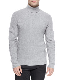 Littlehurst Textured Knit Sweater, Light Gray