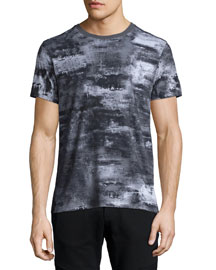 Boyton Printed Short-Sleeve Tee, Dark Gray