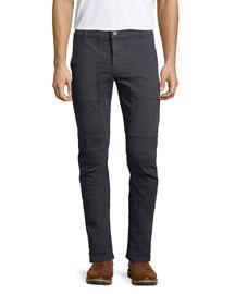 Stein Slim-Fit Moto Pants, Black