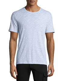 Slub-Knit Crewneck T-Shirt, Light Gray