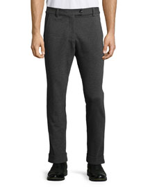 Stretch-Flannel Pants, Charcoal