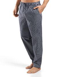 Night & Day Woven Reversible Lounge Pants, Green