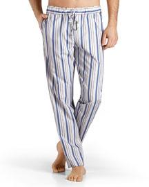 Alphonse Striped Lounge Pants, Blue