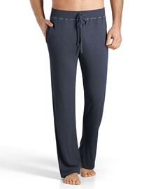 Theophile Solid Lounge Pants, Blue