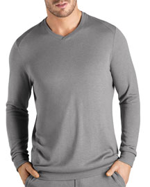 Theophile Long-Sleeve Knit Shirt, Gray