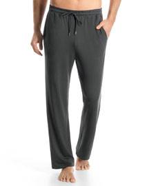 Harrison Solid Lounge Pants, Charcoal