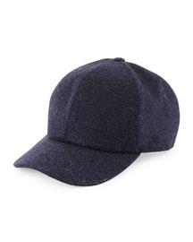 Wool Baseball Hat, Navy