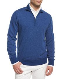 Roadster Half-Zip Cashmere Sweater, Blue