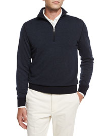 Roadster Cashmere Half-Zip Sweater, Navy