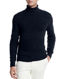 Textured Baby Cashmere Turtleneck Sweater