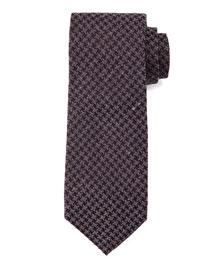 Geo-Houndstooth Tie, Charcoal/Purple
