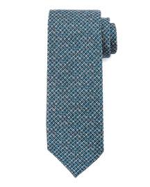 Textured Stripe Silk Tie, Navy