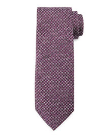 Textured Stripe Silk Tie, Purple