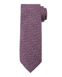 Textured Stripe Silk Tie, Purple