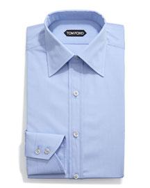 Classic Solid Dress Shirt, Light Blue