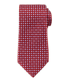 Circle and Cross Neat Tie, Burgundy