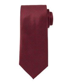 Micro-Tick Woven Neat Tie, Burgundy