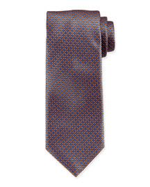 Neat Circle-Patt Silk Tie