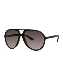 Polarized Crystal-Frame Aviator Sunglasses