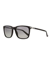 Plastic Square-Frame Sunglasses