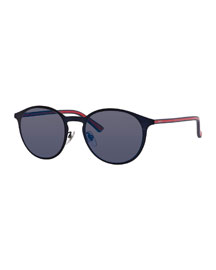 Polarized Round Metal Sunglasses