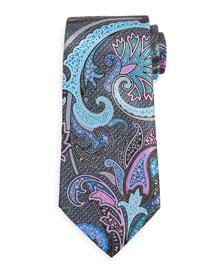 Quindici Paisley Tie, Black