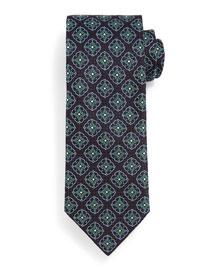 Fancy Medallion Tie, Navy