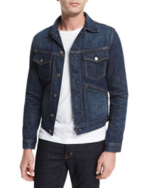 Western Denim Jacket, Blue