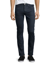 Town Moon Skinny Jeans, Gray/Blue