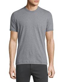 Short-Sleeve Crewneck Jersey T-Shirt, Gray