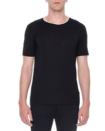 Short-Sleeve Crewneck T-Shirt, Black