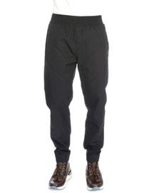 Chevron-Inset Jogger Pants, Black