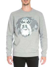 Rottweiler Crewneck Sweatshirt, Gray