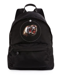 Monkey Brothers Men's Nylon Backpack, Black