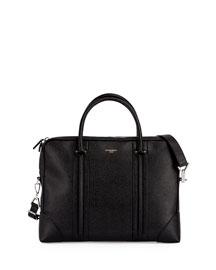 L.C. Small Leather Briefcase, Black