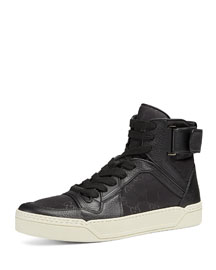 Nylon Guccissima High-Top Sneaker