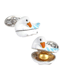 Golden Egg & Goose Cuff Links