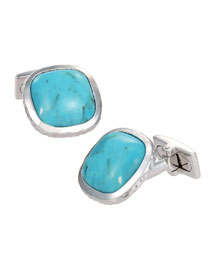 Turquoise Soft-Square Cuff Links