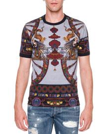 Dragon-Print Short-Sleeve T-Shirt, Multi