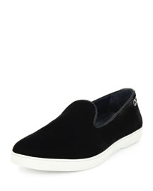 LeBlanc Velvet Slip-On Sneaker, Gray
