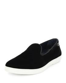 LeBlanc Velvet Slip-On Sneaker, Gray