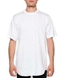 Oversized Crewneck Short-Sleeve T-Shirt, White